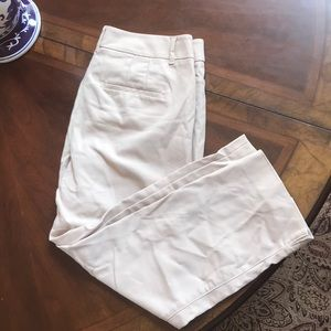WHBM straight crop pants